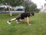 Bear Crawl: Drop on all fours.