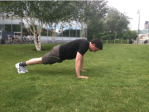 Mountain Climber: Begin in an upright press-up position.